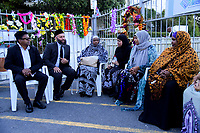 International Muslim Association of New Zealand president Tahir Nawaz (second left). Wellington Islamic Centre in Wellington, New Zealand on Tuesday, 19 March 2019. Photo: Dave Lintott / lintottphoto.co.nz