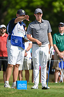 Matt Fitzpatrick (ENG) looks over his tee shot on 3 during round 3 of the 2019 Charles Schwab Challenge, Colonial Country Club, Ft. Worth, Texas,  USA. 5/25/2019.<br /> Picture: Golffile | Ken Murray<br /> <br /> All photo usage must carry mandatory copyright credit (© Golffile | Ken Murray)