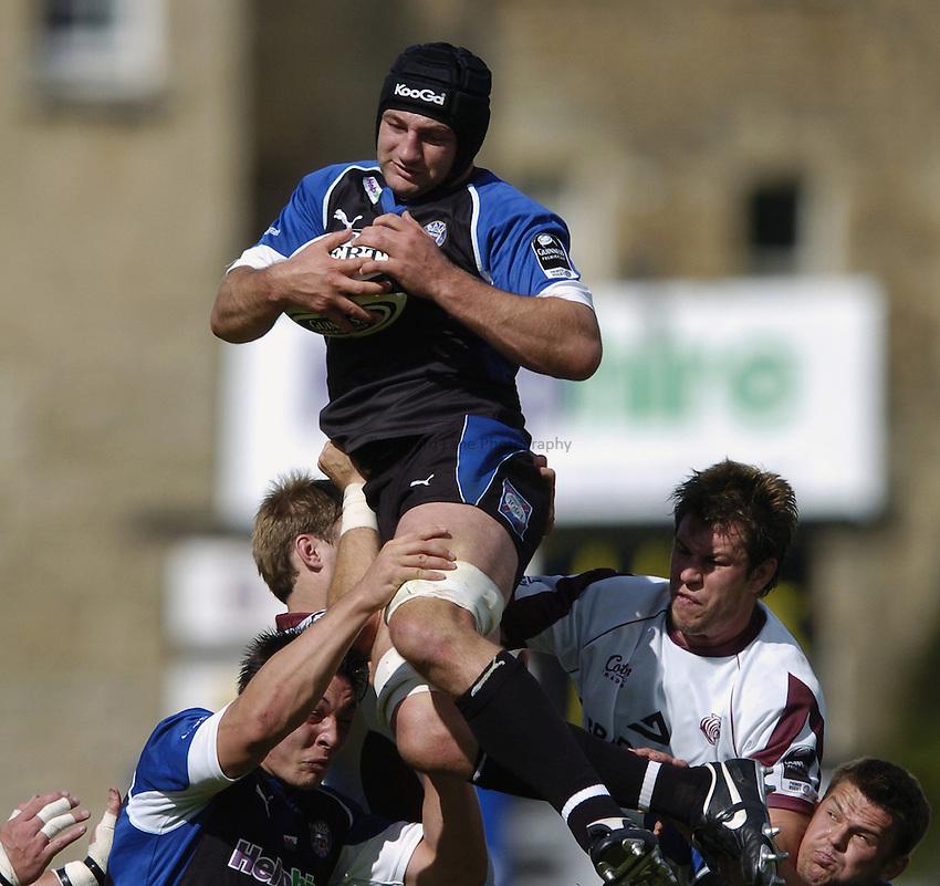 Photo: Jonathan Butler..Bath Rugby v Leicester Tigers. Guinness Premiership. 09/09/2006..Steve Borthwick of Bath.