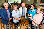 """Ciara Griffin (Irish Rugby Star) launching the Wisdom and Togetherness """"A Reflection of Stories and Letters"""" on behalf of the Castleisland Day Care Centre on Friday.<br /> Front L to r: Ciara Griffin and Martina O'Donoghue (Chairperson). <br /> Back l tor: Cllr Charlie Flannery, Marcella Finn and Noel King."""