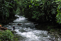 Khasi man fishing in a rivulet in Mawlynnong village in East Khasi Hills - the wettest place on Earth. Arindam Mukherjee