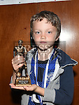 Ardee Celtic Under 8 Green player of the year Jack Ring at the Ardee Celtic annual awards night in Ardee parish centre. Photo:Colin Bell/pressphotos.ie
