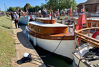 BNPS.co.uk (01202 558833)<br /> Pic: MattCain/BNPS<br /> <br /> Pride of the fleet, Lady of Mann after the restoration project. <br /> <br /> A lifeboat which was present at Dunkirk is set to sail there on the 80th anniversary of the mass evacuation after being painstakingly restored.<br /> <br /> The Lady of Mann was lifeboat number eight on board the passenger ship RMS Lady of Mann, which brought 4,262 men back to England in May 1940.<br /> <br /> It was also on the Isle of Man Steam Packet Company vessel when it carried six landing craft, 55 officers and 435 troops to Juno Beach on D-Day in June 1944.<br /> <br /> After the ship was broken up in 1971, the 27ft lifeboat was sold off and converted into a fishing boat which operated out of Maldon, Essex. It had been languishing in a rotting, dilapidated state in an Essex boatyard when IT manager Matt Cain paid £3,000 for it in 2009 after spotting it for sale online.<br /> <br /> The boat sank at its mooring in Windsor, Berks, during the floods of February 2014. Since then, Mr Cain, whose grandfather was evacuated at Dunkirk, has spent over £30,000 returning it to its former glory.