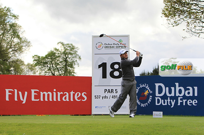 Richard Sterne (RSA) on the 18th during Round 1 of the Dubai Duty Free Irish Open presented  by the Rory Foundation at The K Club, Straffan, Co. Kildare<br /> Picture: Golffile | Thos Caffrey<br /> <br /> All photo usage must carry mandatory copyright credit <br /> (&copy; Golffile | Thos Caffrey)