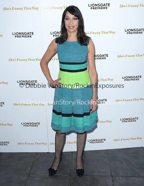 Illeana Douglas attends The Lionsgate Premiere of She's Funny That Way held at The Harmony Gold Theatre  in Los Angeles, California on August 19,2015                                                                               © 2015 Hollywood Press Agency