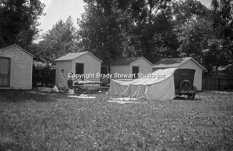 Bedford PA: View of camping cabins at Scott's Campground near Bedford - 1928