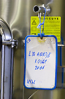 sign on tank chateau la garde pessac leognan graves bordeaux france