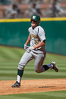 Baylor Bears designated hitter Mitch Price #30 runs to third base during the NCAA baseball game against the California Golden Bears on March 1st, 2013 at Minute Maid Park in Houston, Texas. Baylor defeated Cal 9-0. (Andrew Woolley/Four Seam Images).