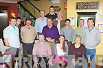 SWS Forestry staff celebrate their Christmas party in Lord Kenmare's restaurant Killarney on Friday evening Pat Sexton, Helen Mallon, Helen Desmond. Back row: Michael Moran, Michael O'Meara, Michael Dalton, Padraig Egan, Padraig Egan, Maurice Stack, Michael Connelly, Joe Fitzgerald, Dan O'Keeffe and Declan Lawless