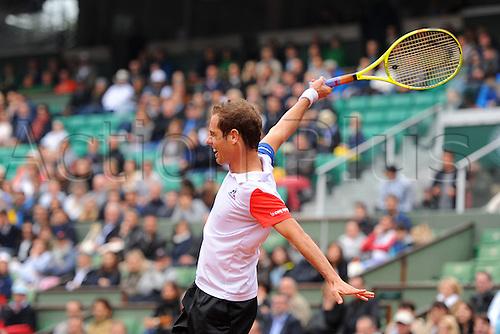 29.05.2016. Stade Roland Garros, Paris, France. Roland Garros French Open Tennis Day 8.  Richard Gasquet (FRA) plays Kei Nishikori (JPN)