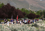 Nearly 100 people participate in the 4th annual Veterans Suicide Awareness March at Western Nevada College, in Carson City, Nev., on Saturday, May 5, 2018. <br />