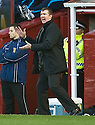 31/10/2009  Copyright  Pic : James Stewart.sct_jspa21_motherwell_v_hearts  . :: MOTHERWELL MANAGER JIM GANNON DURING THE GAME AGAINST HEARTS :: .James Stewart Photography 19 Carronlea Drive, Falkirk. FK2 8DN      Vat Reg No. 607 6932 25.Telephone      : +44 (0)1324 570291 .Mobile              : +44 (0)7721 416997.E-mail  :  jim@jspa.co.uk.If you require further information then contact Jim Stewart on any of the numbers above.........