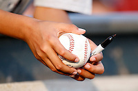July 28, 2009:  Autographs before a game at Coca-Cola Field in Buffalo, NY.  Photo By Mike Janes/Four Seam Images
