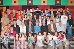 FAMILY REUNION: Fr John McCormick (seated 3rd right and whose mother was from Currow village), parish priest of St. Theresa's Church, Billericay, a town north of Boston city (USA), had all his relations gather in the River Island Hotel, Castleisland, last Friday night for a family reunion.   Copyright Kerry's Eye 2008