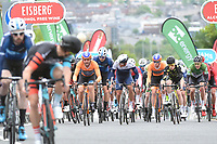 Picture by Allan McKenzie/SWpix.com - 15/05/2018 - Cycling - OVO Energy Tour Series Mens Race Round 2:Motherwell - The peloton comes through Motherwell.