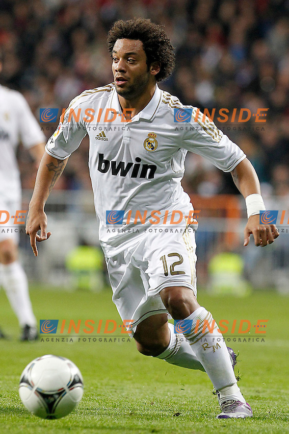 Real Madrid's Marcelo Vieira during Spanish King's Cup match.January 3,2011. (Insidefoto/ALTERPHOTOS/Acero) .Madrid 3/1/2012 Stadio Santiago Bernabeu.Cppa del Re.Real Madrid Malaga