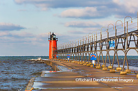64795-02508 South Haven Lighthouse early morning South Haven,  MI