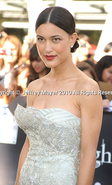 """LOS ANGELES, CA. - June 24: Julia Jones arrives to the premiere of """"The Twilight Saga: Eclipse"""" during the 2010 Los Angeles Film Festival at Nokia Theatre L.A. Live on June 24, 2010 in Los Angeles, California."""