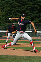 July 13, 2003:  Pitcher Erik Drown of the New Jersey Cardinals during a game at Russell Diethrick Park in Jamestown, New York.  Photo by:  Mike Janes/Four Seam Images