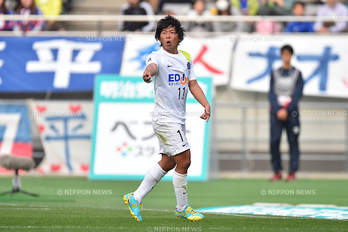 Hisato Sato (Sanfrecce), APRIL 18, 2015 - Football /Soccer : 2015 J1 League 1st stage match between F.C. Tokyo 1-2 Sanfrecce Hiroshima at Ajinomoto Stadium in Tokyo, Japan. (Photo by AFLO)