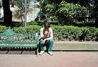 Park in theEscandon neighborhood, Mexico City