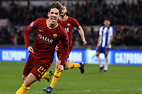 Nicolo Zaniolo of AS Roma celebrates scoring goal of 1-0 <br /> Roma 12-2-2019 Stadio Olimpico Football Champions League 2018/2019 round of 16 1st leg AS Roma - Porto  <br /> Foto Andrea Staccioli / Insidefoto