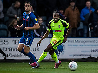 Bolton Wanderers' Joe Dodoo competing with Rochdale's Eoghan O'Connell (left) <br /> <br /> Photographer Andrew Kearns/CameraSport<br /> <br /> The EFL Sky Bet League One - Rochdale v Bolton Wanderers - Saturday 11th January 2020 - Spotland Stadium - Rochdale<br /> <br /> World Copyright © 2020 CameraSport. All rights reserved. 43 Linden Ave. Countesthorpe. Leicester. England. LE8 5PG - Tel: +44 (0) 116 277 4147 - admin@camerasport.com - www.camerasport.com