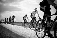 Fabian Cancellara (SUI/Trek-Segafredo) & teammates during recon of the 114th Paris - Roubaix