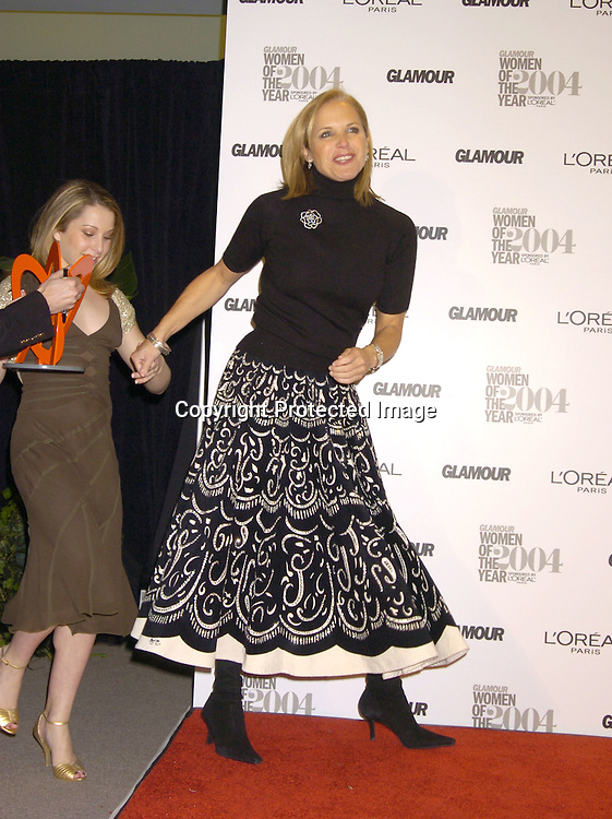 Carly Patterson and Katie Couric..at The 15th Annual Glamour Magazine Women of the Year Awards on November 8, 2004 at The American Museum  of Natural History in New York City. ..Photo by Robin Platzer, Twin Images