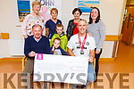 John Kennedy from Castlegregory who did an Ironman Challenge in Copenhagen fundraising for the Kerry Hospice presents a cheque for &euro;4130 at the Palliative Care unit in University Hospital Kerry on Thursday.  <br /> Front l-r, Joe Hennebery and John Kennedy.<br /> Back l-r, Mairead Fernane, Aine Moriarty, Mary Shanahan, Hannah Kennedy, Darragh and Jerry Kennedy.