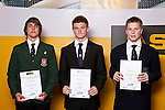 Boys Gymsport finalists Cameron Beeton, Brandon Field & Reid McGowan. ASB College Sport Auckland Secondary School Young Sports Person of the Year Awards held at Eden Park on Thursday 12th of September 2009.