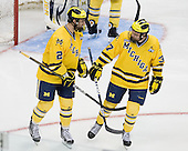 Greg Pateryn (Michigan - 2), Mac Bennett (Michigan - 37) - The University of Minnesota-Duluth Bulldogs defeated the University of Michigan Wolverines 3-2 (OT) to win the 2011 D1 National Championship on Saturday, April 9, 2011, at the Xcel Energy Center in St. Paul, Minnesota.