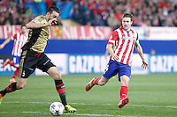 Atletico de Madrid´s Koke (R) during 16th Champions League soccer match at Vicente Calderon stadium in Madrid, Spain. March 11, 2014. (ALTERPHOTOS/Victor Blanco)