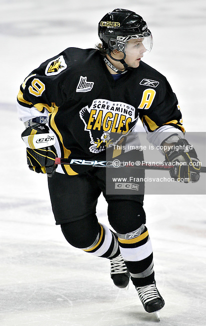 Cape Breton Screaming Eagles' Jonathan Laberge in QMJHL (LHJMQ) action against the Quebec Remparts at Le Colisee in Quebec City November 18, 2007. The Remparts won 6-0...