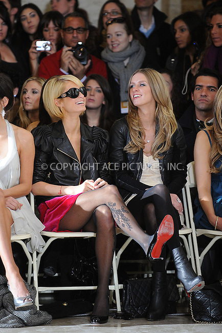 WWW.ACEPIXS.COM . . . . . ....February 16 2009, New York City....(L-R) Paris Hilton and Nicky Hilton attend the Jill Stuart Fall 2009 show during Mercedes-Benz Fashion Week at New York Public Library, Astor Hall on February 16, 2009 in New York City.....Please byline: KRISTIN CALLAHAN - ACEPIXS.COM.. . . . . . ..Ace Pictures, Inc:  ..tel: (212) 243 8787 or (646) 769 0430..e-mail: info@acepixs.com..web: http://www.acepixs.com