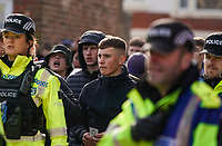 Fleetwood Town fans arrive at Highbury Stadium, home of Fleetwood Town under a Police escort<br /> <br /> Photographer Lee Parker/CameraSport<br /> <br /> The EFL Sky Bet League One - Fleetwood Town v Blackpool - Saturday 7th March 2020 - Highbury Stadium - Fleetwood<br /> <br /> World Copyright © 2020 CameraSport. All rights reserved. 43 Linden Ave. Countesthorpe. Leicester. England. LE8 5PG - Tel: +44 (0) 116 277 4147 - admin@camerasport.com - www.camerasport.com