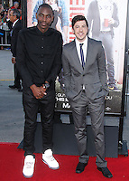 "WESTWOOD, LOS ANGELES, CA, USA - APRIL 28: Jerrod Carmichael, Christopher Mintz-Plasse at the Los Angeles Premiere Of Universal Pictures' ""Neighbors"" held at the Regency Village Theatre on April 28, 2014 in Westwood, Los Angeles, California, United States. (Photo by Xavier Collin/Celebrity Monitor)"