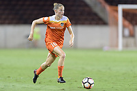 Houston, TX - Saturday July 08, 2017: Janine Beckie brings the ball up the field during a regular season National Women's Soccer League (NWSL) match between the Houston Dash and the Portland Thorns FC at BBVA Compass Stadium.