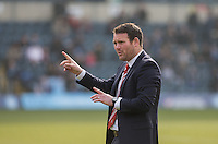 Darren Sarll of Stevenage during the Sky Bet League 2 match between Wycombe Wanderers and Stevenage at Adams Park, High Wycombe, England on 12 March 2016. Photo by Andy Rowland/PRiME Media Images.