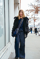 Virginia Smith attends Day 3 of New York Fashion Week on Feb 14, 2015 (Photo by Hunter Abrams/Guest of a Guest)