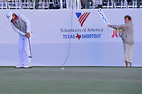 Haru Nomura (JPN) watches her putt on 18 during a playoff hole with Cristie Kerr (USA) during round 4 of  the Volunteers of America Texas Shootout Presented by JTBC, at the Las Colinas Country Club in Irving, Texas, USA. 4/30/2017.<br /> Picture: Golffile | Ken Murray<br /> <br /> <br /> All photo usage must carry mandatory copyright credit (&copy; Golffile | Ken Murray)