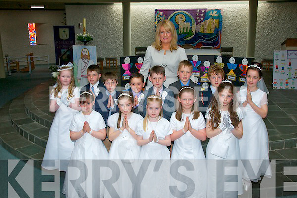 Pupils from Gaelscoil Faithleann NS at their First Communion in the Church of the Ressurection, Killarney on Saturday