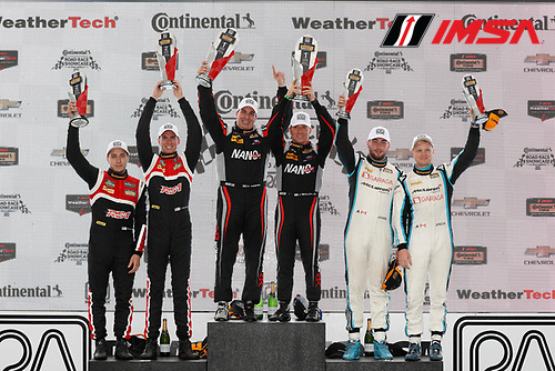 IMSA Continental Tire SportsCar Challenge<br /> Road America 120<br /> Road America, Elkhart Lake, WI USA<br /> Saturday 5 August 2017<br /> 28, Porsche, Porsche Cayman GT4, GS, Dylan Murcott, Dillon Machavern, 59, Ford, Ford Mustang, GS, Dean Martin, Jack Roush Jr, 69, McLaren, McLaren GT4, GS, Chris Green, Jesse Lazare<br /> World Copyright: Michael L. Levitt<br /> LAT Images