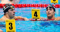 PALTRINIERI Gregorio ITA ITALY gold medal DETTI Gabriele ITA silver medal<br /> London, Queen Elizabeth II Olympic Park Pool <br /> LEN 2016 European Aquatics Elite Championships <br /> Swimming<br /> Men's 800m freestyle final<br /> Day 12 20-05-2016<br /> Photo Giorgio Perottino/Deepbluemedia/Insidefoto