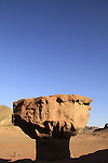 "Israel, Eilat Mountains, the ""Mushroom"" in Timna valley"