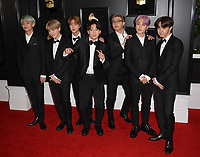 LOS ANGELES, CA - FEBRUARY 10: BTS at the 61st Annual Grammy Awards at the Staples Center in Los Angeles, California on February 10, 2019. Credit: Faye Sadou/MediaPunch