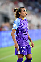 WASHINGTON, DC - AUGUST 24: Orlando Pride forward Marta (Marta Vieira da Silva) (10) wears purple lipstick during the National Women's Soccer League (NWSL) game between the Orlando Pride and Washington Spirit August 24, 2019 at Audi Field in Washington, D.C.. (Photo by Randy Litzinger/Icon Sportswire)