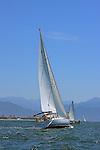 The sail boats participats in 2009 Regatta    of the coast of La Cruz Mexico.