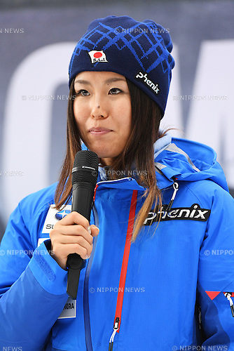 Ayana Onozuka, <br /> NOVEMBER 1, 2016 - Skiing :<br /> 2016/2017 SAJ Team Japan TAKE OFF Press Conference<br /> at SUBARU STAR SQUARE, Tokyo, Japan.<br /> (Photo by AFLO SPORT)