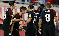 Jacksonville, FL - September 6, 2016: The U.S. Men's National team go up 4-0 over Trinidad & Tobago with Jozy Altidore contributing 2 goals during a World Cup Qualifier (WCQ) match at EverBank Field.